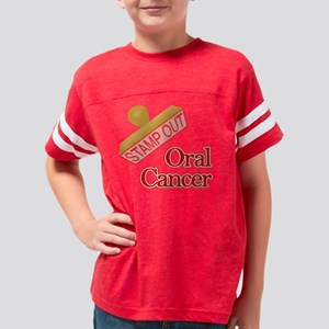 Oral Cancer Youth Football Shirt