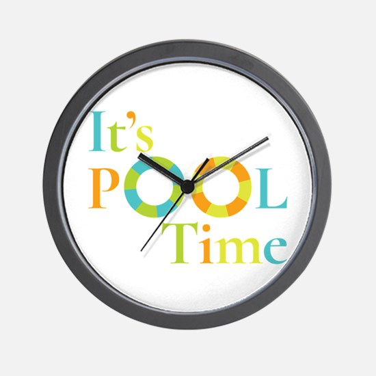 It's summer and it's pool time! Wall Clock