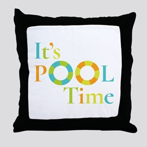 It's summer and it's pool time! Throw Pillow