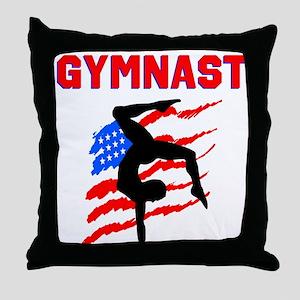 GYMNAST POWER Throw Pillow