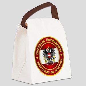 Austria Medallion Canvas Lunch Bag