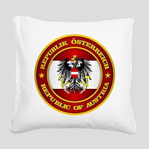 Austria Medallion Square Canvas Pillow