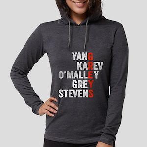 Grey's Anatomy Vertical. Womens Hooded Shirt