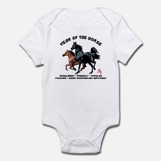 Year of The Horse Characteristics Infant Bodysuit