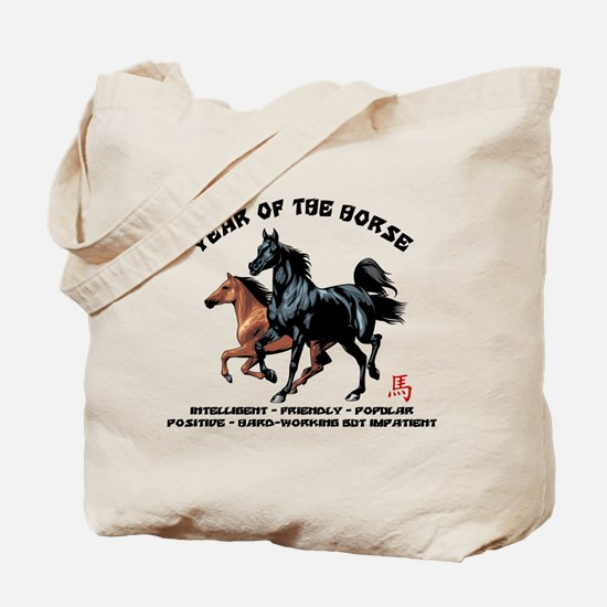 Year of The Horse Characteristics Tote Bag