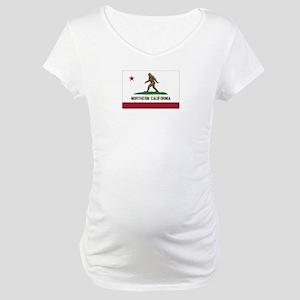Northern California Bigfoot Maternity T-Shirt