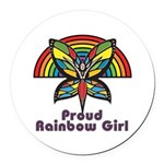 Rainbow Pride Round Car Magnet