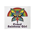 Rainbow Pride Throw Blanket