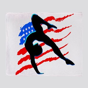 AWESOME GYMNAST Throw Blanket