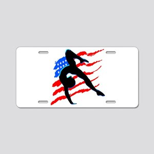 AWESOME GYMNAST Aluminum License Plate