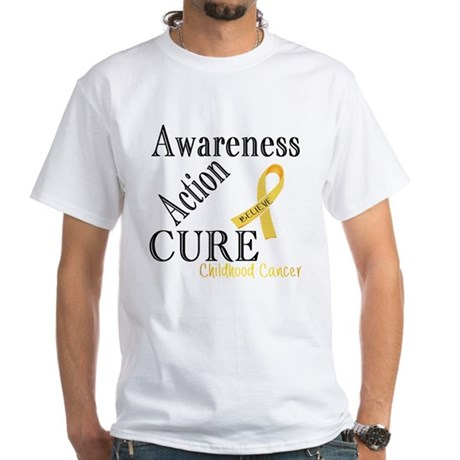 Awareness Action Cure Childhood Cancer T-Shirt