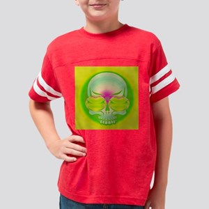 Yellow Green Shades On Funky  Youth Football Shirt