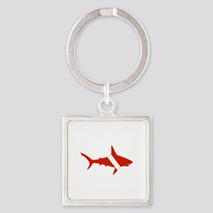 Shark Diver Square Keychain