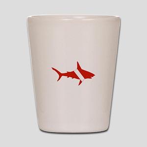 Shark Diver Shot Glass