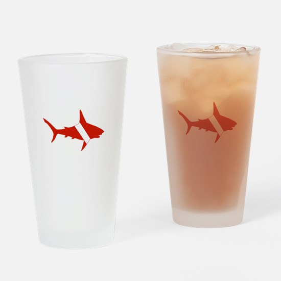 Shark Diver Drinking Glass