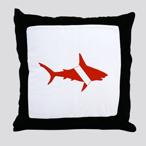 Shark Diver Throw Pillow