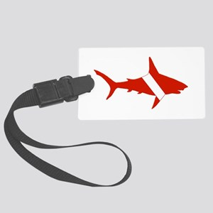 Shark Diver Large Luggage Tag