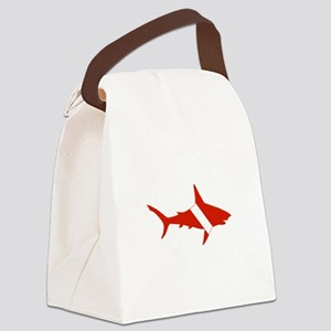 Shark Diver Canvas Lunch Bag