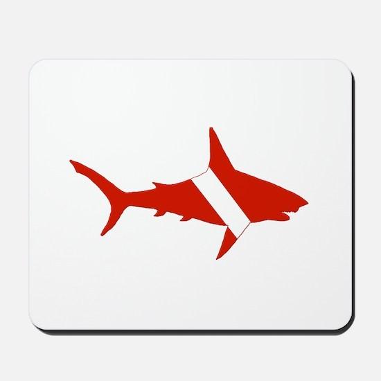 Shark Diver Mousepad