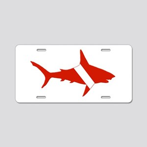 Shark Diver Aluminum License Plate
