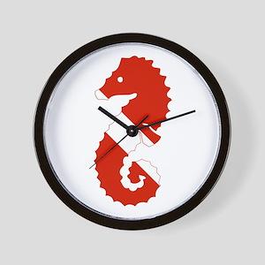 Seahorse Diver Wall Clock