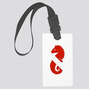 Seahorse Diver Large Luggage Tag