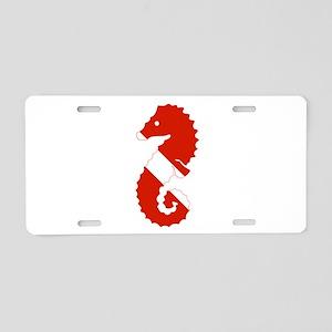 Seahorse Diver Aluminum License Plate
