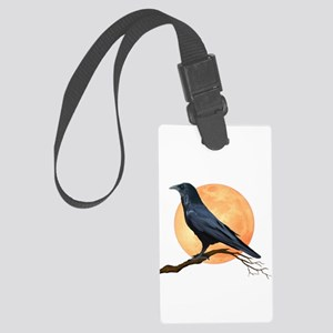 Full Moon Raven Large Luggage Tag