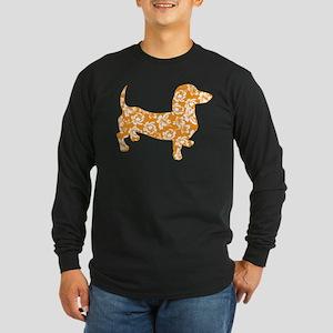 Hawaiian Doxie Dachshund Long Sleeve T-Shirt