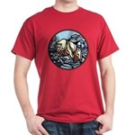 Polar Bear Dark T-Shirt Art Wildlife Painting