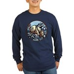 Polar Bear Long Sleeve Dark T-Shirt Art Painting