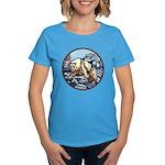 Polar Bear Art Women's Dark T-Shirt Painting