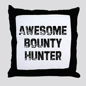 Awesome Bounty Hunter Throw Pillow