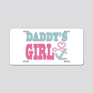 Daddys Girl Boat Anchor and Heart Aluminum License