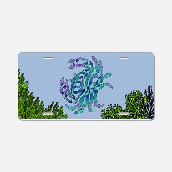 Crab Aluminum License Plate