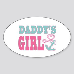 Daddys Girl Boat Anchor and Heart Sticker