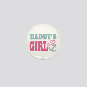 Daddys Girl Boat Anchor and Heart Mini Button
