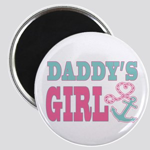 Daddys Girl Boat Anchor and Heart Magnets