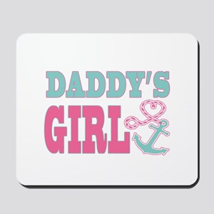 Daddys Girl Boat Anchor and Heart Mousepad