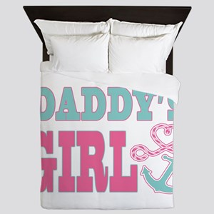 Daddys Girl Boat Anchor and Heart Queen Duvet