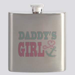 Daddys Girl Boat Anchor and Heart Flask