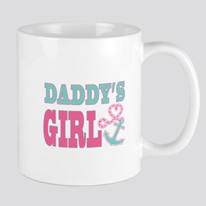 Daddys Girl Boat Anchor and Heart Mugs