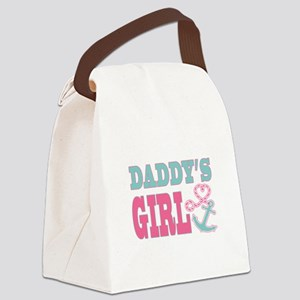 Daddys Girl Boat Anchor and Heart Canvas Lunch Bag