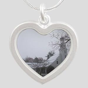 Setauket New York Presbyteri Silver Heart Necklace