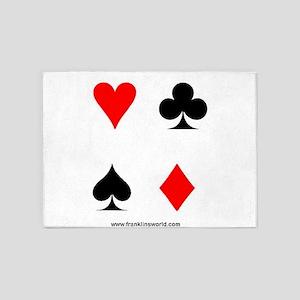 Card Symbols II 5'x7'Area Rug
