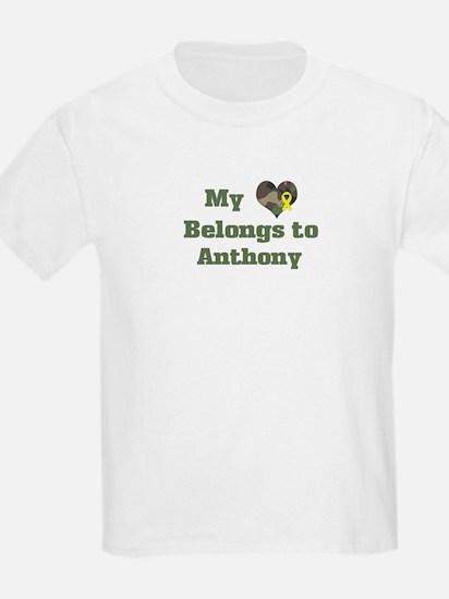 Anthony: My Heart Kids T-Shirt