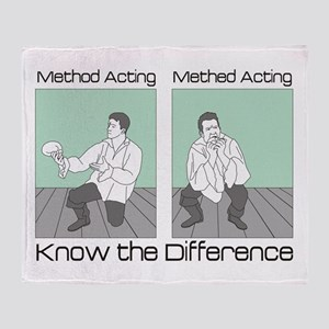 Methed Acting Throw Blanket