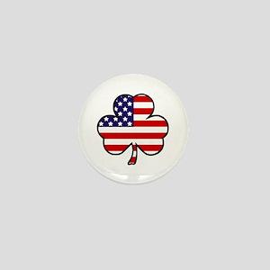 'USA Shamrock' Mini Button