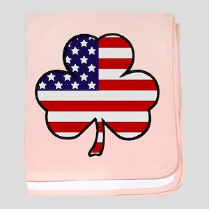 'USA Shamrock' baby blanket