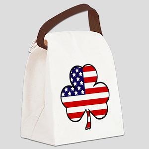 'USA Shamrock' Canvas Lunch Bag